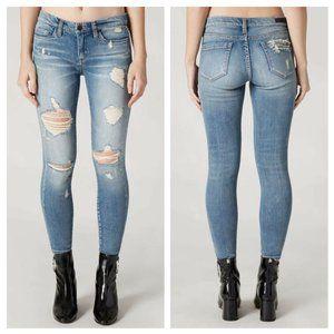 BLANKNYC The Reade Crop Distressed Skinny Jeans 28